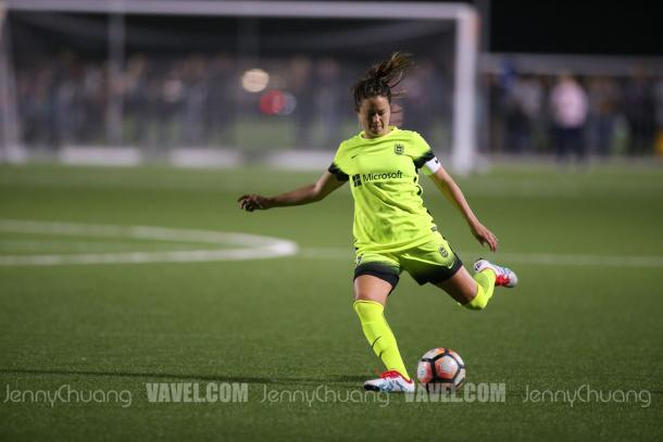 Lauren Barnes returns for a 6th season with the Reign | Source: Jenny Chuang - VAVEL USA