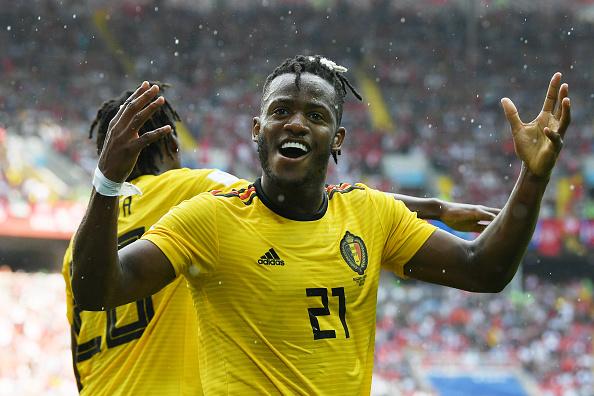 Foi difícil, mas Batshuayi conseguiu marcar o seu na goleada da Bélgica sobre a Tunísia (Foto: Shaun Botterill/Getty Images)
