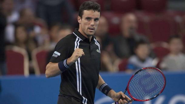 Roberto Bautista Agut celebrates winning a point. Photo: ATP World Tour