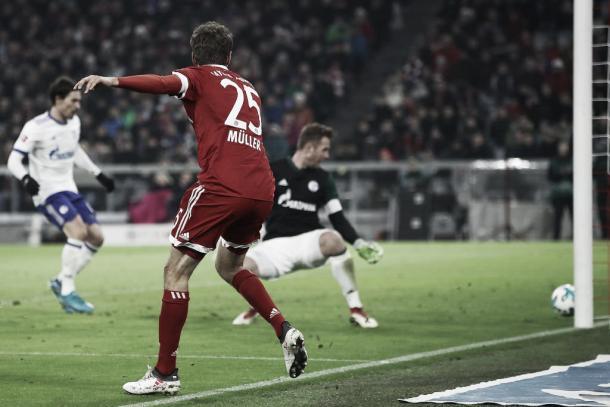 Segundo antes de que el Bayern grite el segundo gol | Foto: @FCBayernES