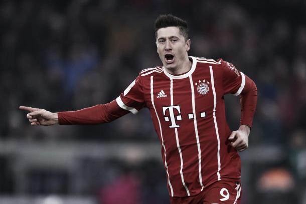 Como siempre, Lewandowski anota para el Bayern | Foto: @FCBayernES