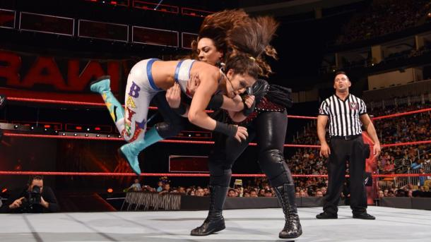 Bayley suffered an injury during RAW match with Nia Jax (image: wwe.com)