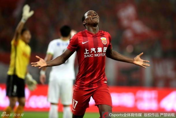 Jean Evrard Kouassi fez dois gols nos últimos dois jogos do SIPG (Foto: Sina Sports)