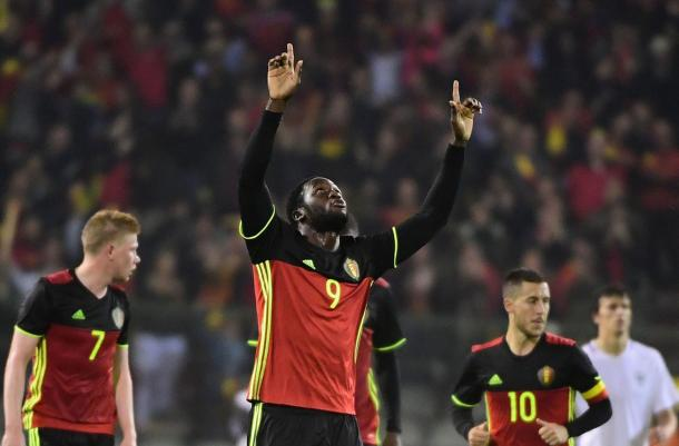 Lukaku popped up late on to chest home an equaliser (Photo: Getty Images)