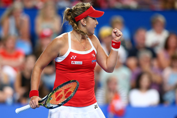 Belinda Bencic celebrates winning a point at this year's competition | Photo: Paul Kane/Getty Images AsiaPac