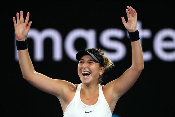 Belinda Bencic celebrates her win over Venus Williams in Melbourne | Photo: Clive Brunskill/Getty Images AsiaPac