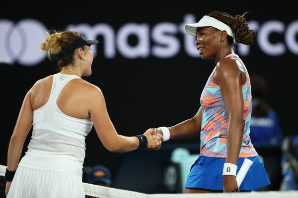 Venus and Bencic met in the first round of the Australian Open this year | Photo: Clive Brunskill/Getty Images AsiaPac