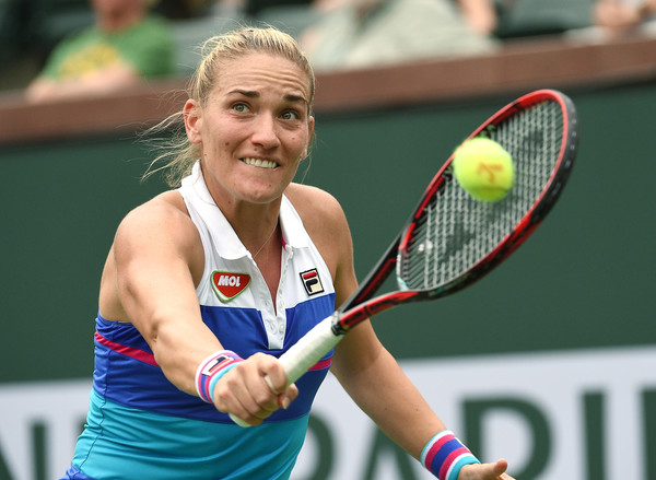Timea Babos was firing on all cylinders during the early stages | Photo: Kevork Djansezian/Getty Images North America
