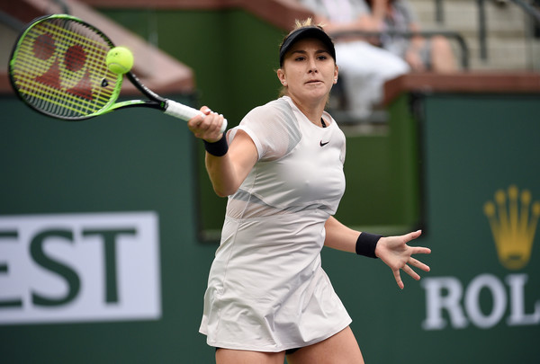 Belinda Bencic outstandingly fought back to send the match into a decider | Photo: Kevork Djansezian/Getty Images North America