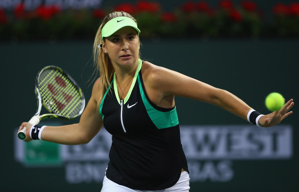 Belinda Bencic in action at the BNP Paribas Open | Photo: Clive Brunskill/Getty Images North America