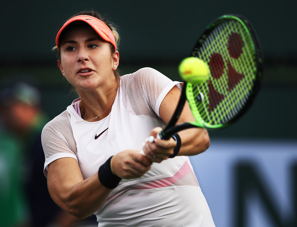 Belinda Bencic's last tournament was the BNP Paribas Open, where she had an encouraging run | Photo: Adam Pretty/Getty Images North America