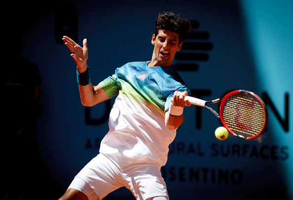 Thomaz Belluci drills a forehand. Photo: Guillermo Martinez/Corbis via Getty Images