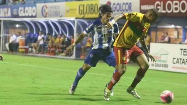 Beltrán estreou pelo Avaí, mas não conseguiu tirar o zero do placar (Foto: Frederico Tadeu/Avaí FC)