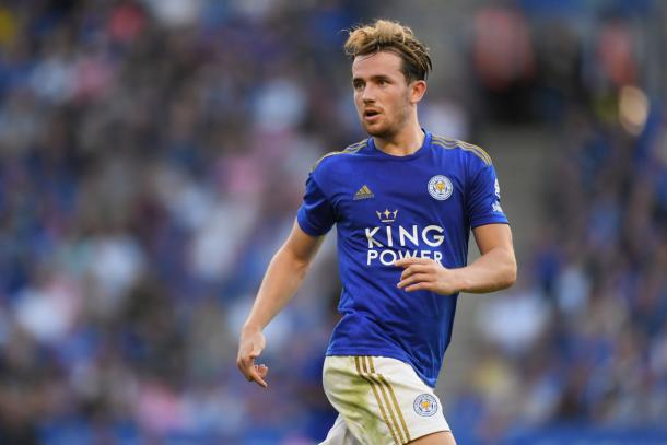 Could Ben Chiwell be on his way to Chelsea in the next transfer window. | Photo via Getty Images
