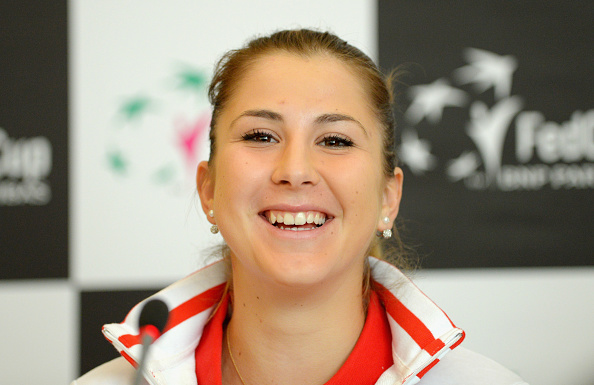 Bencic at a Fed Cup press conference (Getty/Thomas Eisenhuth)