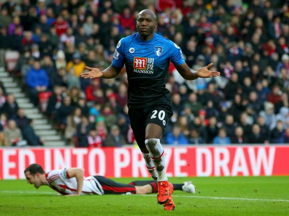 Afobe celebrando un gol con los Cherries. Foto: Premier League