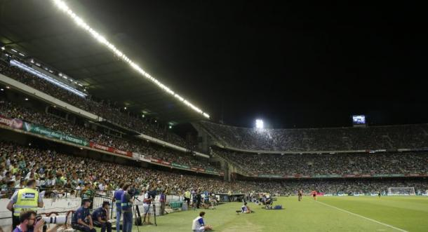 Estadio Benito Villamarín en el partido frente al Dépor de este curso | Foto: Real Betis Balompié