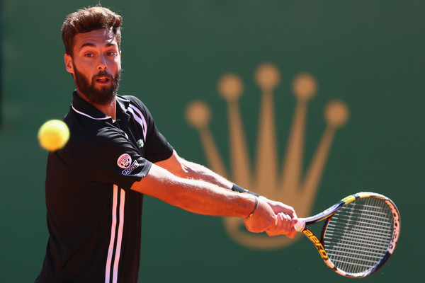 Paire in action against Murray in Monte Carlo. Photo: Michael Steele/Getty Images