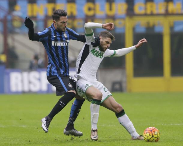 Berardi in azione contro l'Inter, gdnonline.com