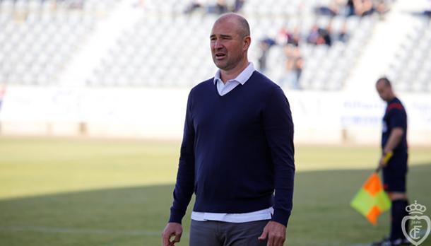 Berges durante su última etapa como entrenador del Jaén | Foto: HoraJaén.com