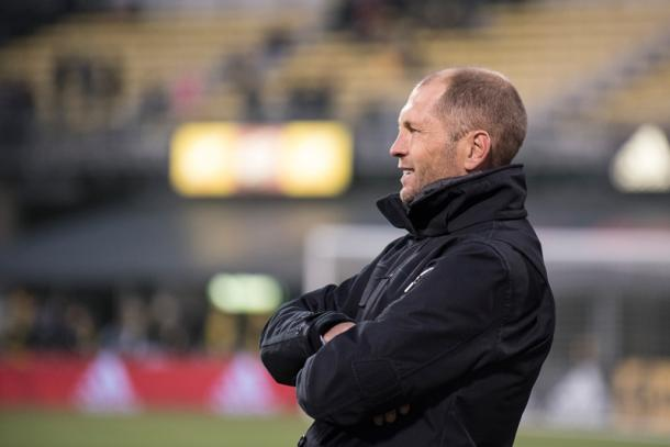 Berhalter during his time with the Crew | Source: ussoccer.com