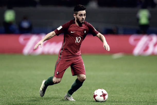 Bernardo Silva em partida da Copa das Confederações (Fonte: Getty Images)