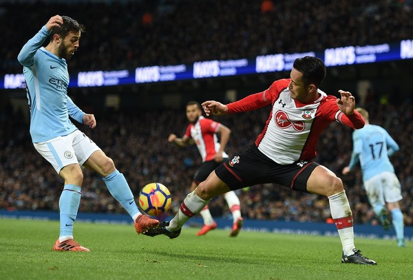 Bernardo Silva vs Southampton. Foto: AFP