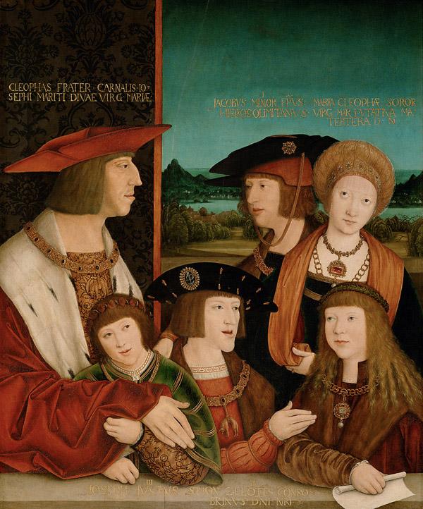 Retrato del entonces príncipe Carlos, el futuro emperador, con su familia paterna (1515), de Bernhard Strigel (Kunsthistorisches Museum, Viena) (PD).