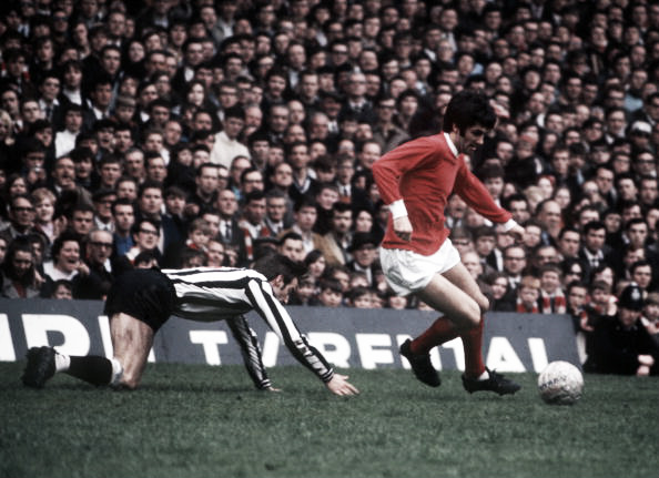 The genius George Best, doing what he did best - 'taking the mick' (Photo: Bob Thomas / Getty Images)