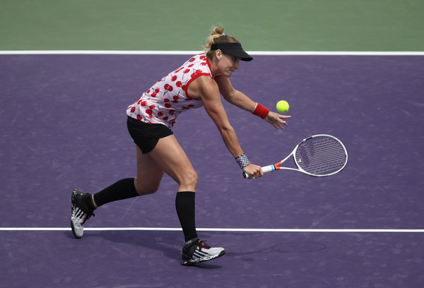 Bethanie Mattek-Sands' net play was clinical today | Photo: Julian Finney/Getty Images North America
