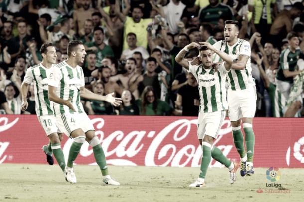 Gol de Sergio León. Foto: LaLiga