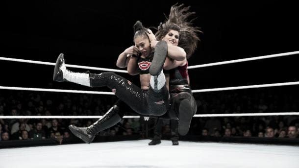 Beckett and Belair had a closely fought battle. Photo-WWE.com