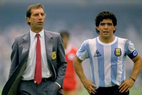 Bilardo y Maradona (foto:jotdown)