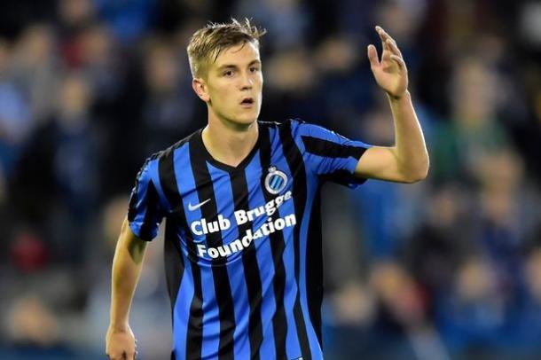 Bjorn Engels, difensore del Club Brugge. Fonte: Daily Mirror