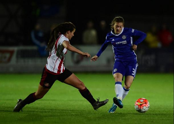 Hannah Blundell against Sunderland | Photo: Empics Sport