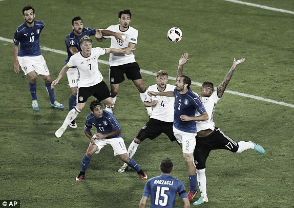 Above: Jerome Boateng handling the ball in Germany's win over Italy | Photo: AP