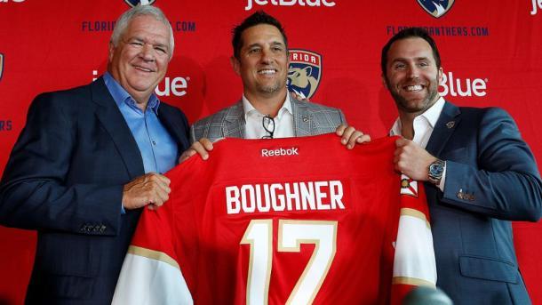 Bob Boughner en su presentación como técnico de Florida Panthers / NHL.com
