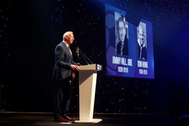 Former-Arsenal goalkeeper Bob Wilson at last year's awards   Photo via Willow Foundation