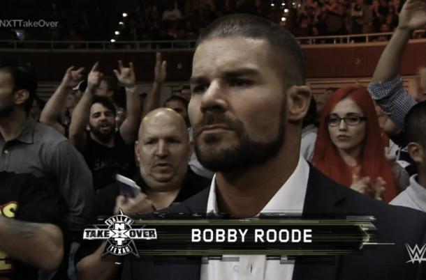 Roode was shown in Dallas. Photo: