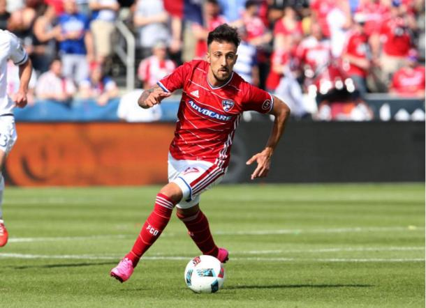 FC Dallas forward Maximiliano Urruti (above) will look to add to his goal tally on Sunday. Photo credit: USA Today Images