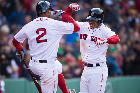 Betts and Bogaerts are leading Boston's charge.   Photo: Getty Images