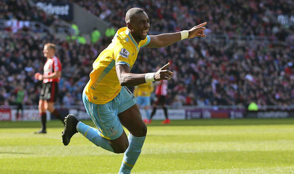 Bolasie celebrating one of his three goals against Sunderland last season | Photo: Getty images