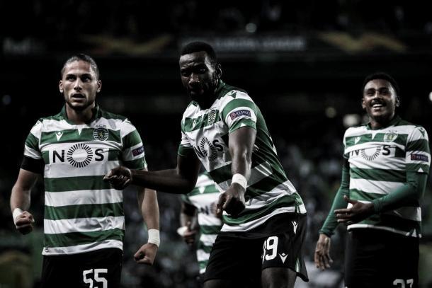 O atacante Bolasie foi o autor do único gol do confronto (Foto: Sporting CP / Reprodução)