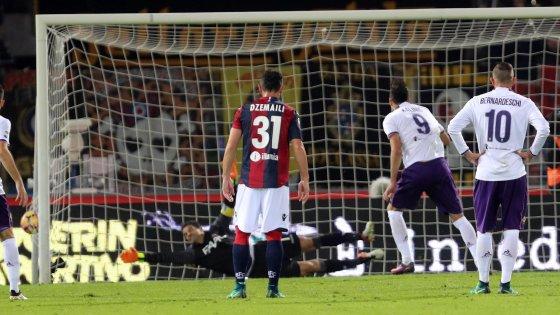 Il rigore che ha deciso Bologna-Fiorentina, repubblica.it