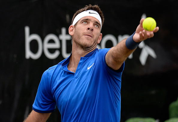 Del Potro serves during his semifinal defeat at the Mercedes Cup against Philipp Kohlschreiber (Getty/Bongarts/Daniel Kapotch)