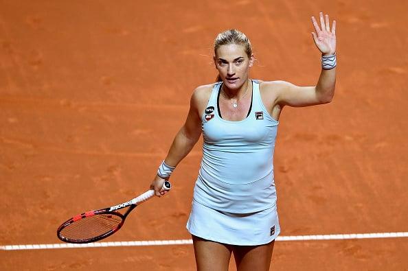Babos after her first round victory in Stuttgart (Getty/Bongarts/Dennis Grombkowski)