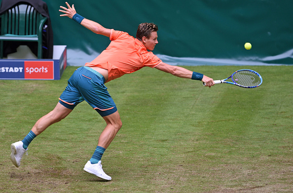 Berdych in action during their match in Halle (Getty Images- Bongarts/Thomas Starke)