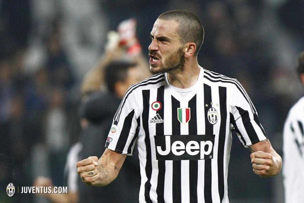 Bonucci celebra un gol | Foto: Juve