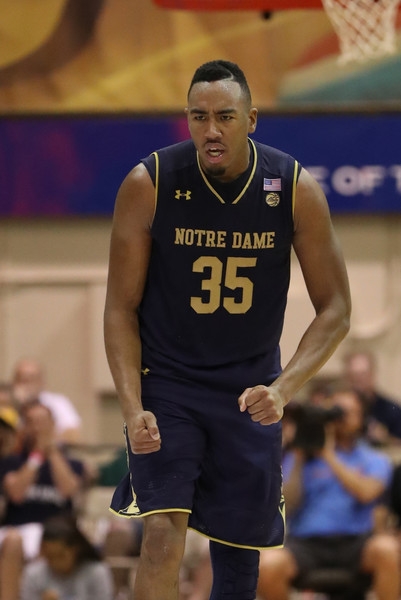 Colson reacts during Notre Dame's win in Maui/Photo: Darryl Oumi/Getty Images