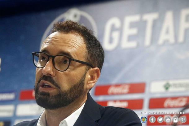 José Bordalás durante la rueda de prensa posterior al choque frente al Huesca | LaLiga